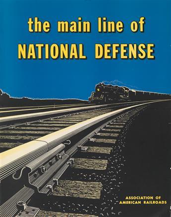DESIGNER UNKNOWN. THE MAIN LINE OF NATIONAL DEFENSE. Circa 1940s. 28x22 inches, 71x56 cm.