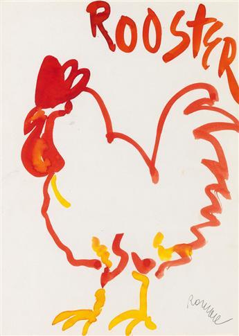 ROMARE BEARDEN (1911 - 1988) Rooster.