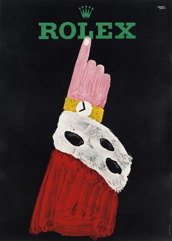 HERBERT LEUPIN (1916-1999). ROLEX. 1959. 50x36 inches, 127x91 cm. Wolfsberg, Zurich.