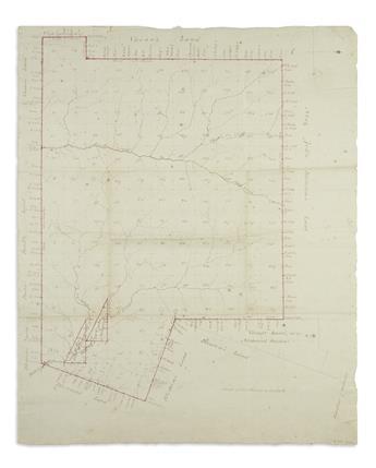 (GEORGIA LAND SURVEY.) Thomson, Claud. [Representation of a body of land containing 147,773 acres.]