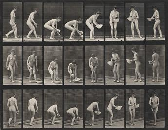 EADWEARD MUYBRIDGE (1830-1904) A selection of 11 plates from the classic series Animal Locomotion showing women in motion.