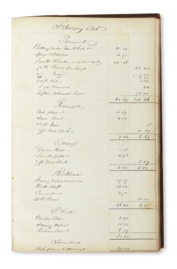 (NEW YORK.) Maintenance daybook from the first years of the New York & Erie Railroad.