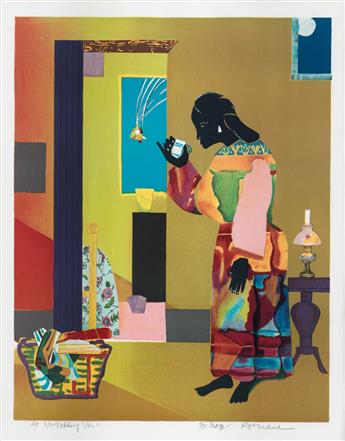 ROMARE BEARDEN (1911 - 1988) Falling Star.