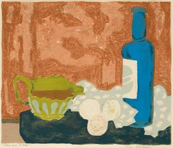 ROBERT BLACKBURN (1920 - 2003) Blue Wine Bottle.