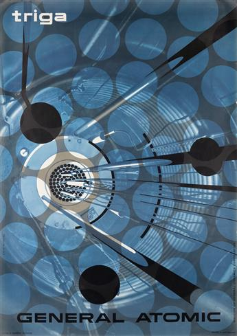 ERIK NITSCHE (1908-1998). GENERAL ATOMIC / TRIGA. 1958. 50x35 inches, 128x90 cm. R. Marsens, Lausanne.