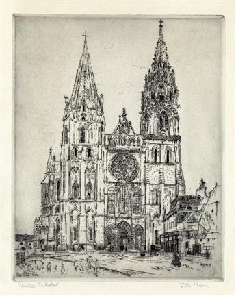 JOHN MARIN Chartres Cathedral.