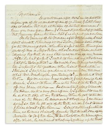 (SLAVERY AND ABOLITION.) Archive of letters to John Augustine Washington III at Mount Vernon, many discussing enslaved people.