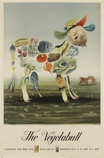 LEWITT-HIM (JAN LEWITT, 1907-1991 & JERZY HIM, 1900-1981). THE VEGETABULL. 1943. 29x19 inches, 75x49 cm. Thos. Forman & Sons Ltd., Nott