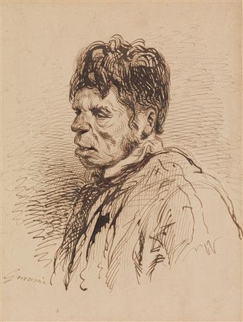 PAUL GAVARNI (Paris 1804-1866 Neuilly-Auteuil-Passy) A Portrait Study of a Man.