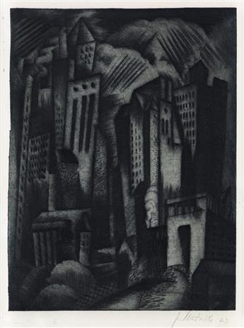 JAN MATULKA Cityscape (View of New York).
