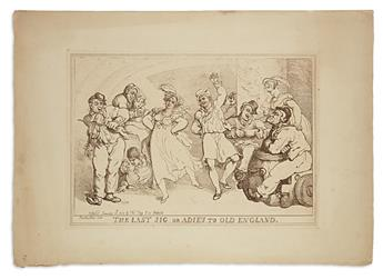 ROWLANDSON, THOMAS. Group of 8 etched plates on heavy laid paper.