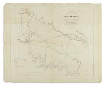 (CIVIL WAR.) Sheppard, Edwin. Map Showing the Battle Grounds of the Chickahominy,