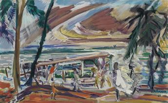 JAMES A. PORTER (1905 - 1970) Ferry to Tarkwa Bay, Lagos (Nigeria).
