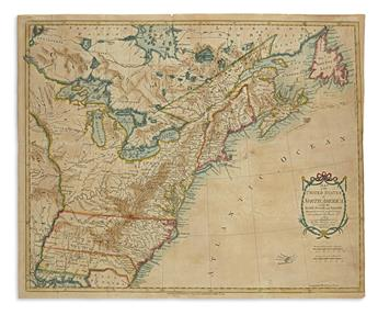 KITCHIN, THOMAS. Map of the United States in North America... According the Treaty of 1783.