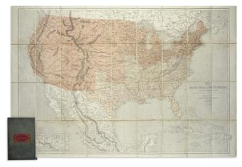 (CIVIL WAR.) Ettling, Theodor. Map of the United States of North America.