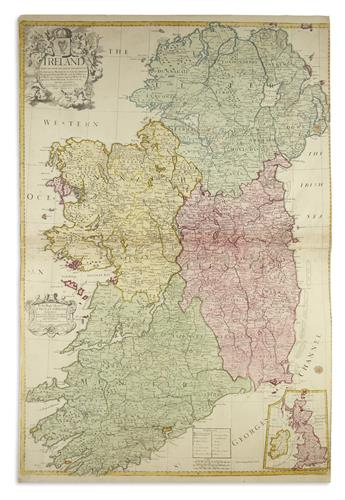 SENEX, JOHN. Group of engraved maps with fine original hand-color in full.