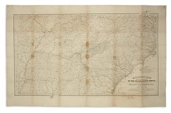 (CIVIL WAR.) Kossak, Captain William; and Muller, John B. Military Map Showing the Marches of the United States Forces