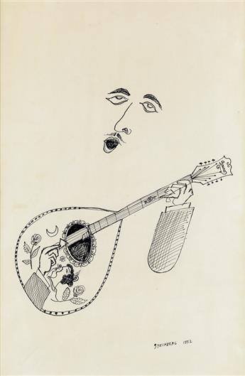 SAUL STEINBERG. Mandolin Player.