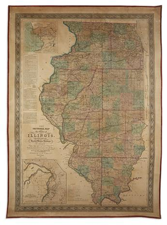 PECK, J.M.; MESSINGER, JOHN; and MATHEWSON, A.J. New Sectional Map of the State of Illinois.
