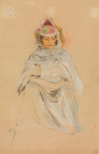 ALEXANDRE LUNOIS (Paris 1863-1916 Paris) A Study of a Middle Eastern Woman.