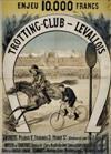 DESIGNER UNKNOWN TROTTING-CLUB-LEVALLOIS. 49x35 inches. Emile Levy, Paris.
