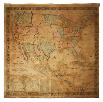 MONK, JACOB. New Map of That Portion of North America, Exhibiting the United States and Territories,