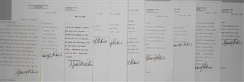 PERKINS, MAXWELL. Archive of 26 Typed Letters Signed, Maxwell Perkins or Maxwell E. Perkins, to author Alan Kapelner,