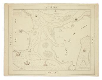 MANUSCRIPT MAP. Walcheren / Zuid-Beveland.
