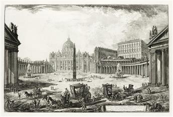 GIOVANNI B. PIRANESI Veduta della gran Piazza e Basilica di S. Pietro.