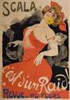 JULES ALEXANDRE GRÜN (1868-1938) SCALA / CEST DUN RAID! 1902. 47 x 34 inches. Bourgerie & Cie. Paris.