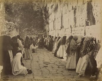 FELIX BONFILS (1831-1885) Album entitled Photographies de Terre Sainte by F.F. Marroum, Jerusalem.