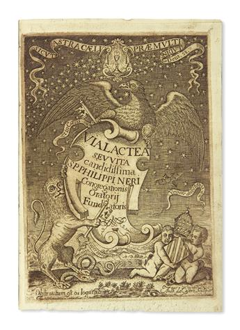 (MEXICAN IMPRINT--1698.) Ramirez, Jose. Via lactea, seu vita candidissima S. Philippi Nerii.