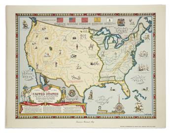 (UNITED STATES.) Smith, Karl; for the Linweave Paper Company. The Growth and Development of America in Maps by Linweave.