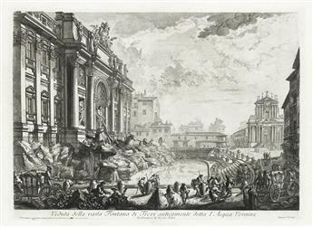 GIOVANNI B. PIRANESI Veduta della vasta Fontana de Trevi anticamente detta lAcqua Vergine.