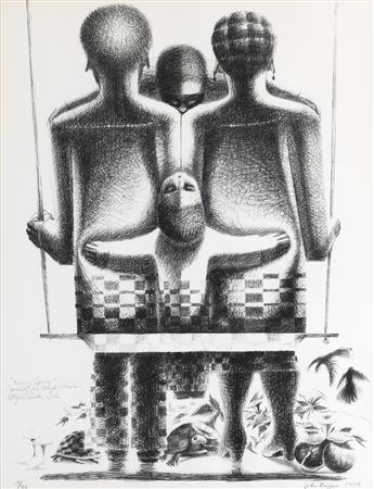 JOHN BIGGERS (1924 - 2001) Twins of Spring.