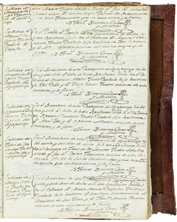 (MEXICAN MANUSCRIPTS.) Colonial burial register.
