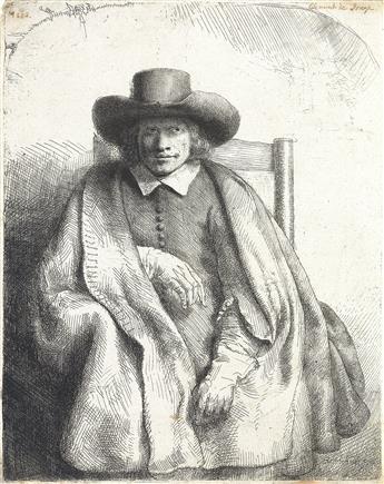 REMBRANDT VAN RIJN Clement de Jonghe, Printseller.