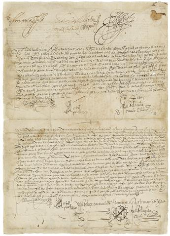(MEXICAN MANUSCRIPTS.) Royal order to reinstate lands to Indians which had been unfairly taken by the Spanish.