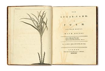 (SLAVERY AND ABOLITION.) GRAINGER, JAMES M.D. The Sugar-Cane, a Poem in Four Books.