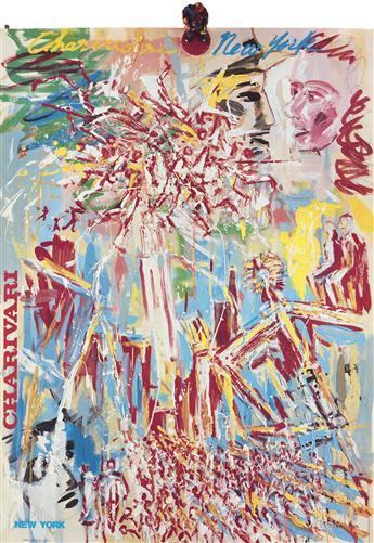 TADANORI YOKOO (1936- ). CHARIVARI / NEW YORK. 1983. 41x28 inches, 104x71 cm.