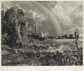 DAVID LUCAS (after Constable) The Rainbow, Salisbury Cathedral
