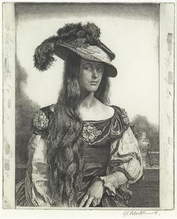 GERALD L. BROCKHURST The Black Silk Dress (Anais).