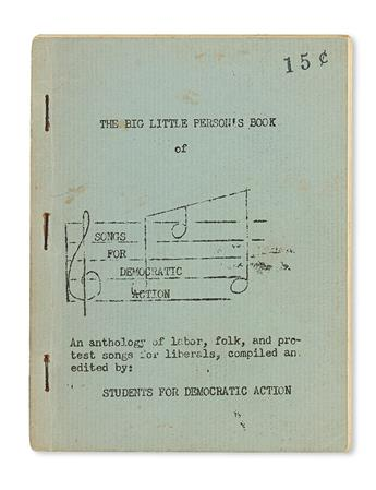 (CIVIL RIGHTS.) STUDENTS FOR DEMOCRATIC ACTION. The Big Little Person's Book of Songs For Democratic Action.