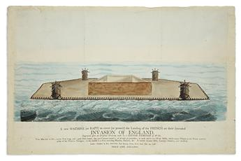 (SATIRE -- MILITARY.) Hinton, William. A New Machine (or Raft) to Cover (or Protect) the Landing of the French