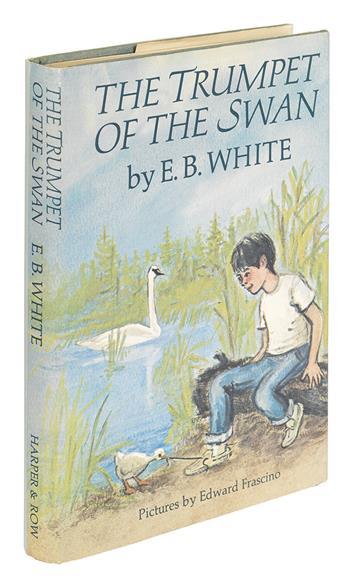 (CHILDRENS LITERATURE.) WHITE, E.B. The Trumpet of the Swan.