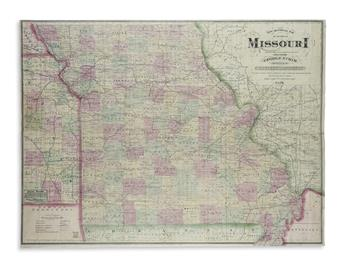 CRAM, GEORGE F. New Sectional Map of the State of Missouri.