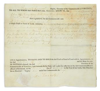 (GOVERNORS.) Group of 6 partly-printed Documents Signed, as Governor, mostly appointments. Format varies; condit...