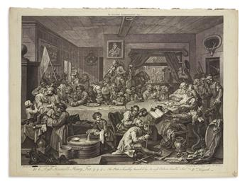 HOGARTH, WILLIAM. Four Prints of an Election.
