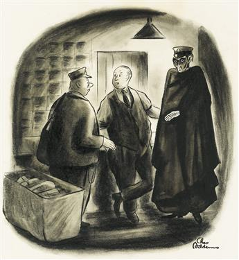 (THE NEW YORKER / CARTOON) CHARLES ADDAMS. OHara, have you met Mr. Rappaport from our Dead Letter Office?