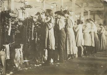LEWIS W. HINE (1874-1940) Some of the young knitters in Loudon Hosiery Mills, Loudon, Tennessee.